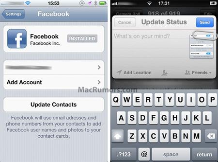 iOS 6'nın yeni özelliği Facebook mu olacak?