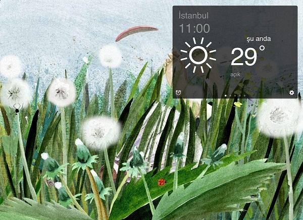 iPad Yandex.Weather