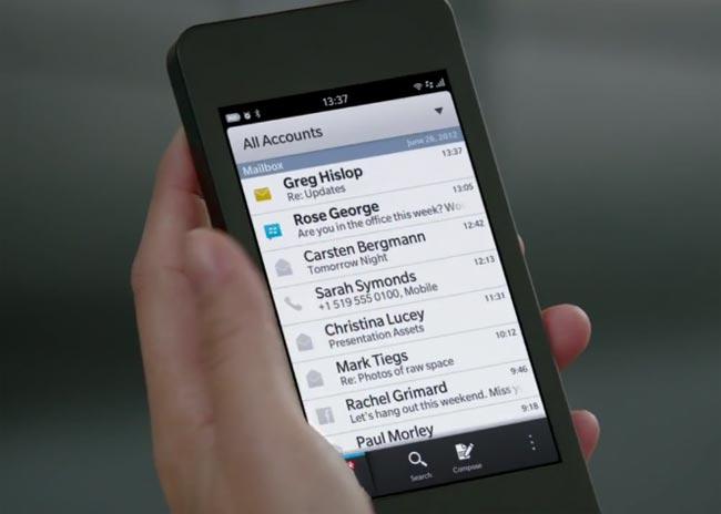 Blackberry 10'dan yeni haber
