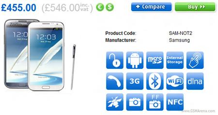 Samsung Galaxy Note 2 satış