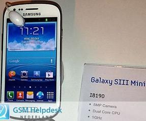 Galaxy S3 Mini tanıtımı