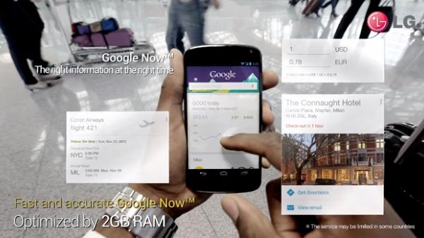 Google Nexus 4 yeni yıl tanıtım videosu