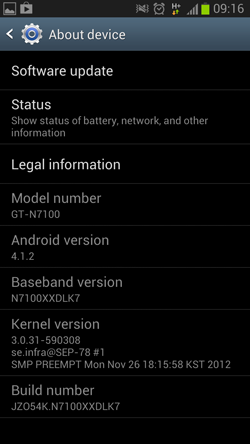 Galaxy Note 2 Android 4.1.2 indir