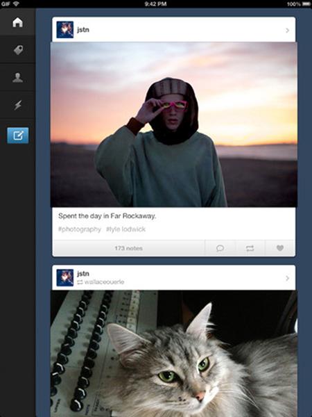 iPad'e Tumblr desteği geldi