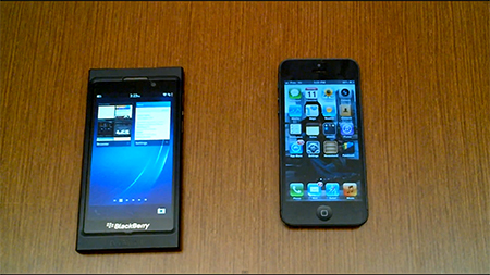 Blackberry 10 iPhone 5 karşılaştırması