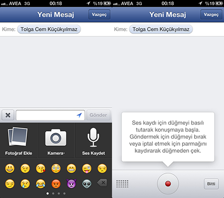 Sesli Facebook Messenger