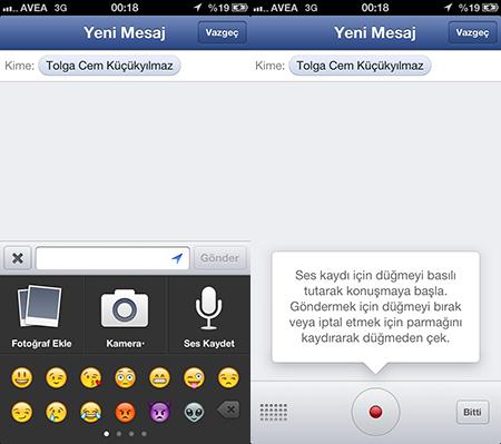 Sesli Facebook Messenger