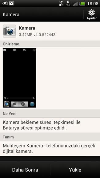 HTC One X+ kamera güncellemesi