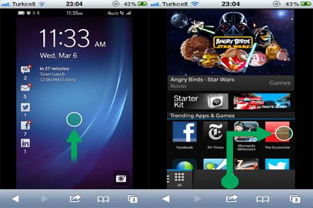 Blackberry 10'u iOS ve Android'de deneyin