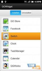 GO Switch Widget