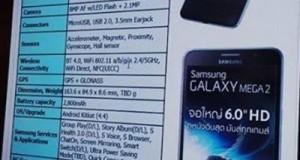 Samsung Galaxy Mega 2 Fiyat ve Özellikleri