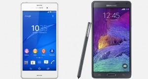 Xperia Z3 ile Galaxy Note 4 Karşılaştırması